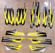 Yamaha banshee quad stickers graphics decal 10pc kit Yellow /Black /Brush Silver