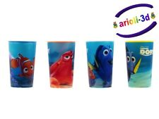 GLASS SET HOLOGRAPHIC FINDING DORY PIXAR DISNEY TROUVEZ DORIS 4 VERRES NEW KID