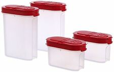 TUPPERWARE Gewürz-Riesen + Gewürz-Zwerge Gewürzbehälter Behälter Set (4) ROT