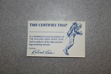 Vintage LOST IN SPACE 1960s Official Membership KOLONEL KEDS SECRET Decoder Card