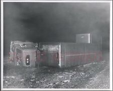 Vintage Photo Unusual 1960 International COE Truck Wreck 666144