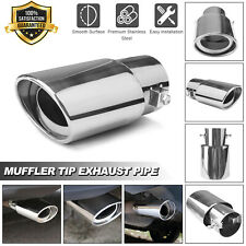 Car Exhaust Pipe Tip Tail Muffler Stainless Steel Replacement Round Accessories
