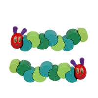 Twist The Very Hungry Caterpillar Toys Wooden Blocks for Baby Fingers Flexible