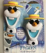 NEW ~ Disney Frozen Olaf Boca Clips 2 for Chair Keep Beach Pool Towel in Place