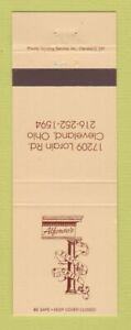 Matchbook Cover - Alfonso's Tuscan Grill Cleveland OH