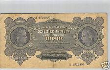 POLOGNE 10 000 MAREK 11.3.1922 N° A 1526893 PICK 32