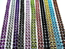 GROS LOT RUBAN STRASS 12M , 12 couleurs ,scrapbooking ,couture...