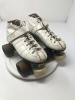 Vintage Pacer Formula F11  Speed Roller Skates Size 4 White Ankle Lace Up