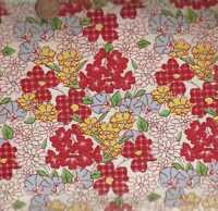 Feed Sack VI 30s repro red blue yellow flowers floral Windham fabric