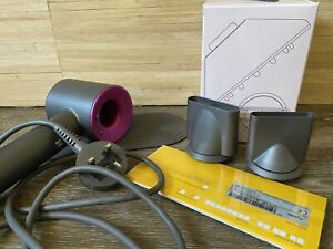 Dyson Fuschia Supersonic Hairdrier, Attachments, Unopened Boxed New Diffuser