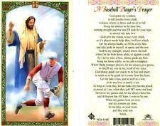 A Baseball Players Laminated Prayer Card New Catholic From Cromo Italy