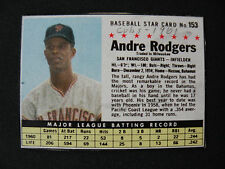 1961 Post Cereal Andre Rogers San Francisco Giants card #153B baseball $1 S&H