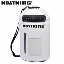 30L KastKing Dry Bag Waterproof Roll Top Type Duffel Bag w/ Grab Handle - White