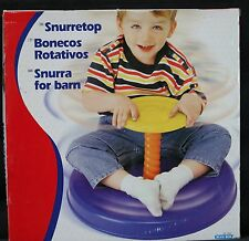 NEW IN OPENED BOX BLUE BOX SPIN AROUND KIDS TROTTOLA KARUSSEL