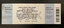 Paul Weller - Vic Theatre, Chicago, Il - June 17, 2015 - Rare Full Ticket, 93Xrt