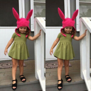 Girls Cute Warm Hat Louise Bunny Ear Gift Cosplay Party Beanie Costume Halloween