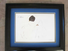 R C Gorman Reposing Woman Enthios Navajo Wood Framed Matted Print with glass