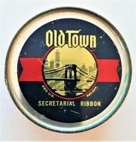 """#202.  VTG SEALED """"OLD TOWN SECRETARIAL"""" TYPEWRITER RIBBON TIN"""