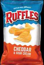 Frito Lays Ruffles Potato Chips Cheddar and Sour Cream Flavor (9 Oz.) 1 Bag