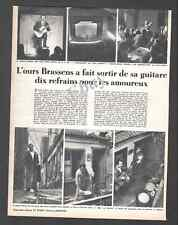 "Ancien Document de presse GEORGES BRASSENS "" L' OURS BRASSENS"" 1953 - 12i"