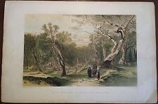 GREECE EDWARD LEAR 1863 ORIGINAL ENGRAVING OF CORFU CORFOU IONIAN ISLE RARE 1