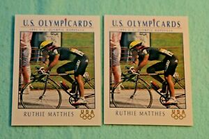RUTHIE MATTHES LOT OF 2 1992 IMPEL U.S. OLYMPIC HOPEFULS #33 CYCLING
