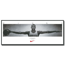 Michael Jordan Wings Vintage Basketball Art Silk Poster 13x36 inch Sport Picture