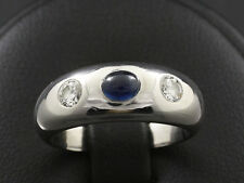 Zeitloser Saphir Brillant Band Ring Ringweite 52    750/- Weißgold