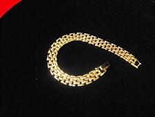 "Bracelet Panther Link 24K GOL Bracelet   8 3/4 """