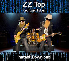 ZZ TOP ROCK GUITAR TAB TABLATURE DOWNLOAD SONG BOOK SOFTWARE TUITION