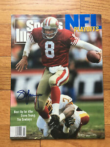 Steve Young SIGNED Sports Illustrated 1/18/93 SF 49er's No Label Very Rare WOW
