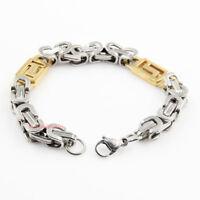 bracciale braccialetto da uomo in acciaio dorato cod.287