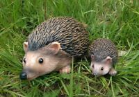 2pc Realistic Resin Hedgehog Family Garden Ornaments Animal Small Large Statues