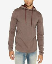 $177 Buffalo David Bitton Men's Brown Long-Sleeve Pullover Hoodie Sweater 2XL