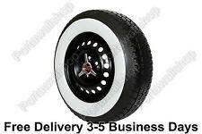 Firestone tyre style 14''x3'' White Walls Tire Insert Trim Port-a-walls-Set of 4
