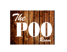 The poo room funny bathroom toilet home metal wall plaque sign