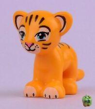 LEGO - Minifig, Animal - Tiger w/ Blue Eyes, Dark Pink Nose & Brown Stripes