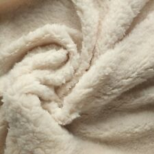 50cm piece of Cream Sherpa Fleece Fabric - Super Soft, Texture, shearling effect