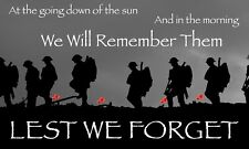 More details for lest we forget remembrance day flag 5ft x 3ft  | military armed forces | charity