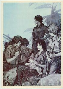 1982 VIVA CUBA Cuban Revolution Women Mom Russian Rare Postcard Poster 15 x 21