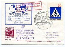 1971 Raketenflug Versuchsreihe Astro Philatelie Berlin Luposta Berlin SPACE NASA