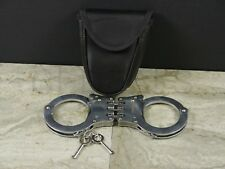 Chrome Police Cop Sheriff Officer Heavy Duty Military Level Handcuff Cuff +Pouch