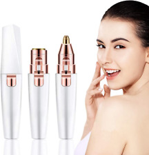 Facial Hair Remover Women, Gianic 2-1 Face Nose Eyebrow Trimmer Electric Lady 2