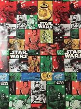 Star Wars 7 The Force Awakens Christmas Wrapping Paper 70' roll comic book look