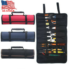 Multi-function Electrician Tool Pocket Bags Roll Up Storage Organizer Bags Pouch