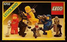 Lego 6702 - Classic Space Minifigures - 1986 Legoland Minifigs, 80s Vintage MISB