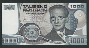AUSTRIA RARE 1000 SCHILLING  1983  UNC