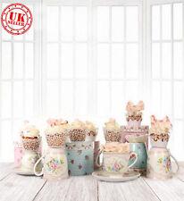 Blanche Sweet Tea Cup Mignon Toile de Fond Fond Vinyle Photo Prop 5X7FT 150x220CM