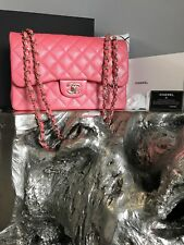 a5d0791542e1 NWT CHANEL 2018 18S PINK CAVIAR JUMBO Classic Double Flap NEW Gold ROSEY  PINK