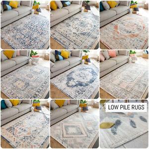 Distressed Traditional Rug Transitional Flatweave Rug Medallion Living Room Rugs